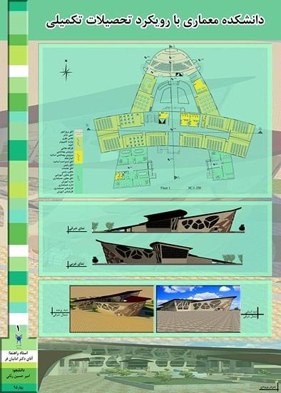 طراحی دانشکده معماری تحصیلات تکمیلی