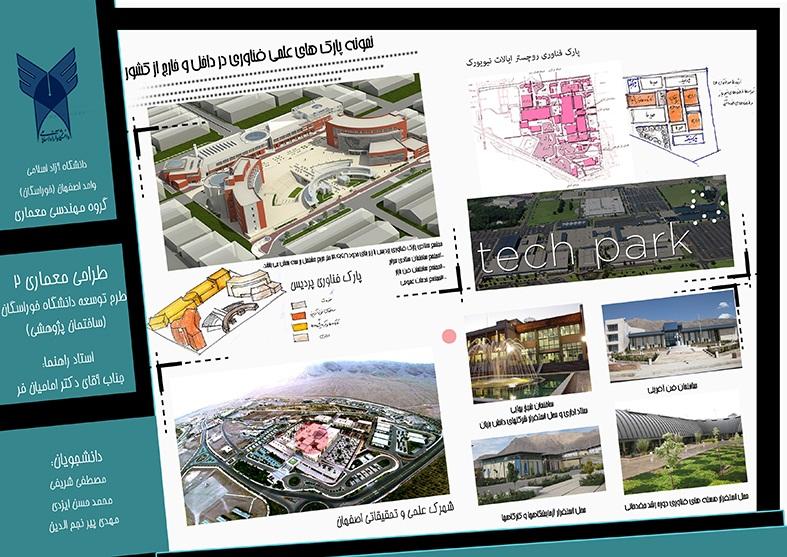 طرح معماری ارشد طراحی پارک علم و فناوری