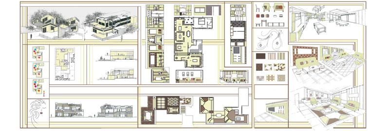طرح 3 معماری پروژه طراحی داخلی 005614