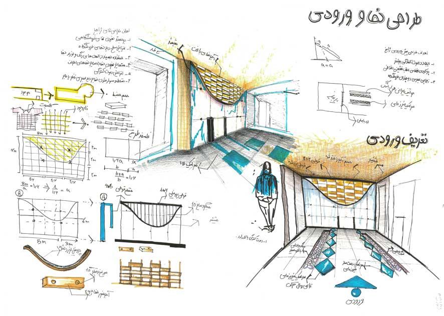 طرح ارشد معماری داخلی فروشگاه ژابیز