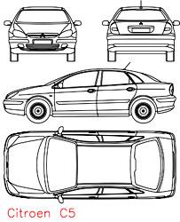 dwg انواع ماشینها در نماهای مختلف