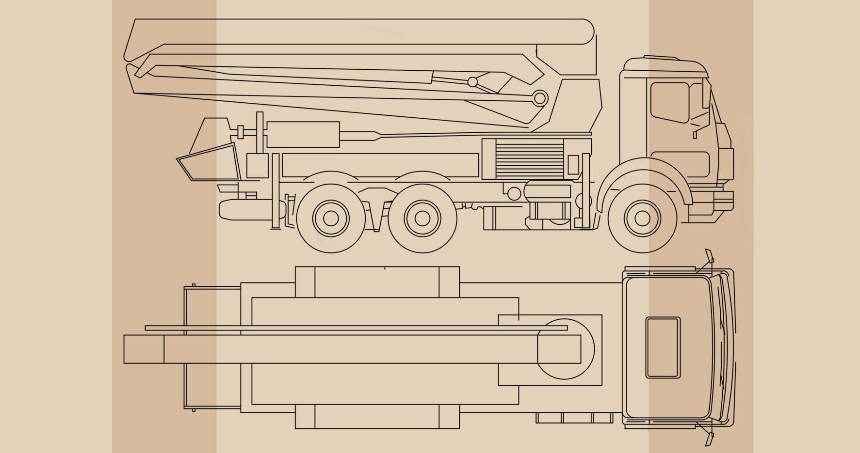 dwg انواع ماشین سنگین فایل
