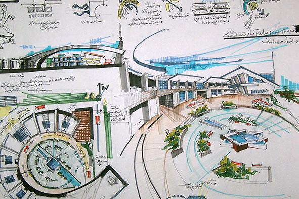 اسکیس پروژه مقدمات طراحی
