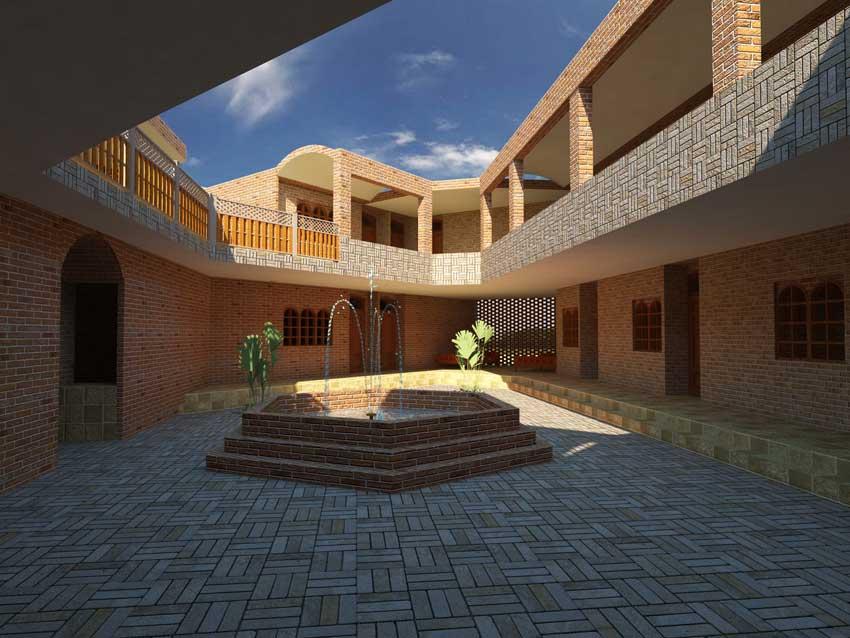 طرح نهایی طراحی اقامتگاه بین راهی
