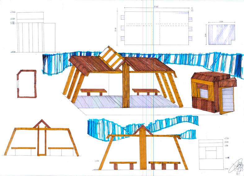 کارگاه مصالح و ساخت ایستگاه اتوبوس 01118