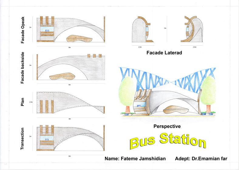 کارگاه مصالح و ساخت ایستگاه اتوبوس 01115