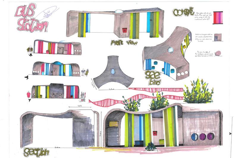 کارگاه مصالح و ساخت ایستگاه اتوبوس 01126