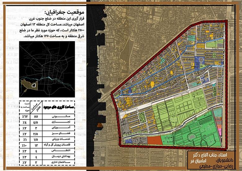 تحلیل فضاهای شهری منطقه 13 اصفهان