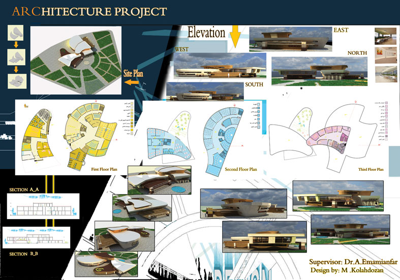 پروژه دانشکده معماری طرح معماری ارشد