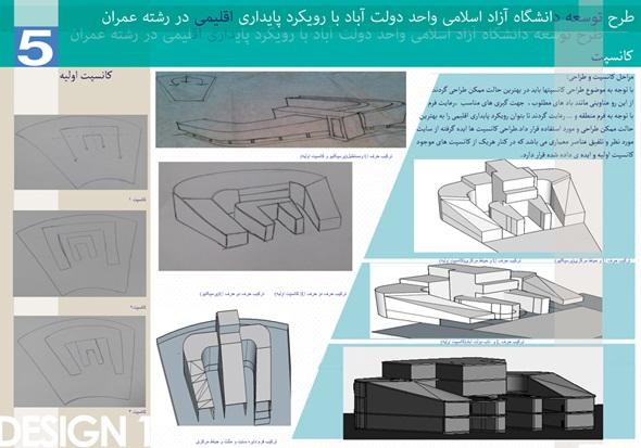 طرح معماری ارشد طراحی دانشکده عمران