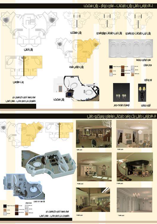 طرح 3 معماری داخلی کارشناسی ارشد