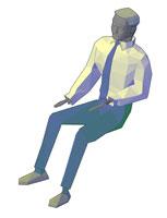 dwg حالتهای انسان 3D فایل AutoCAD