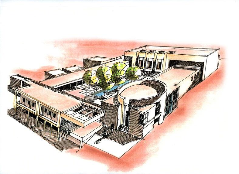 اموزش اسکیس پرسپکتیو معماری