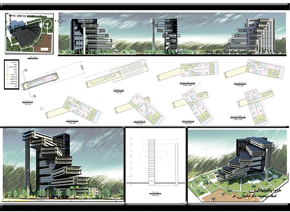 پروژه طرح معماری 5 مجتمع مسکونی 00136