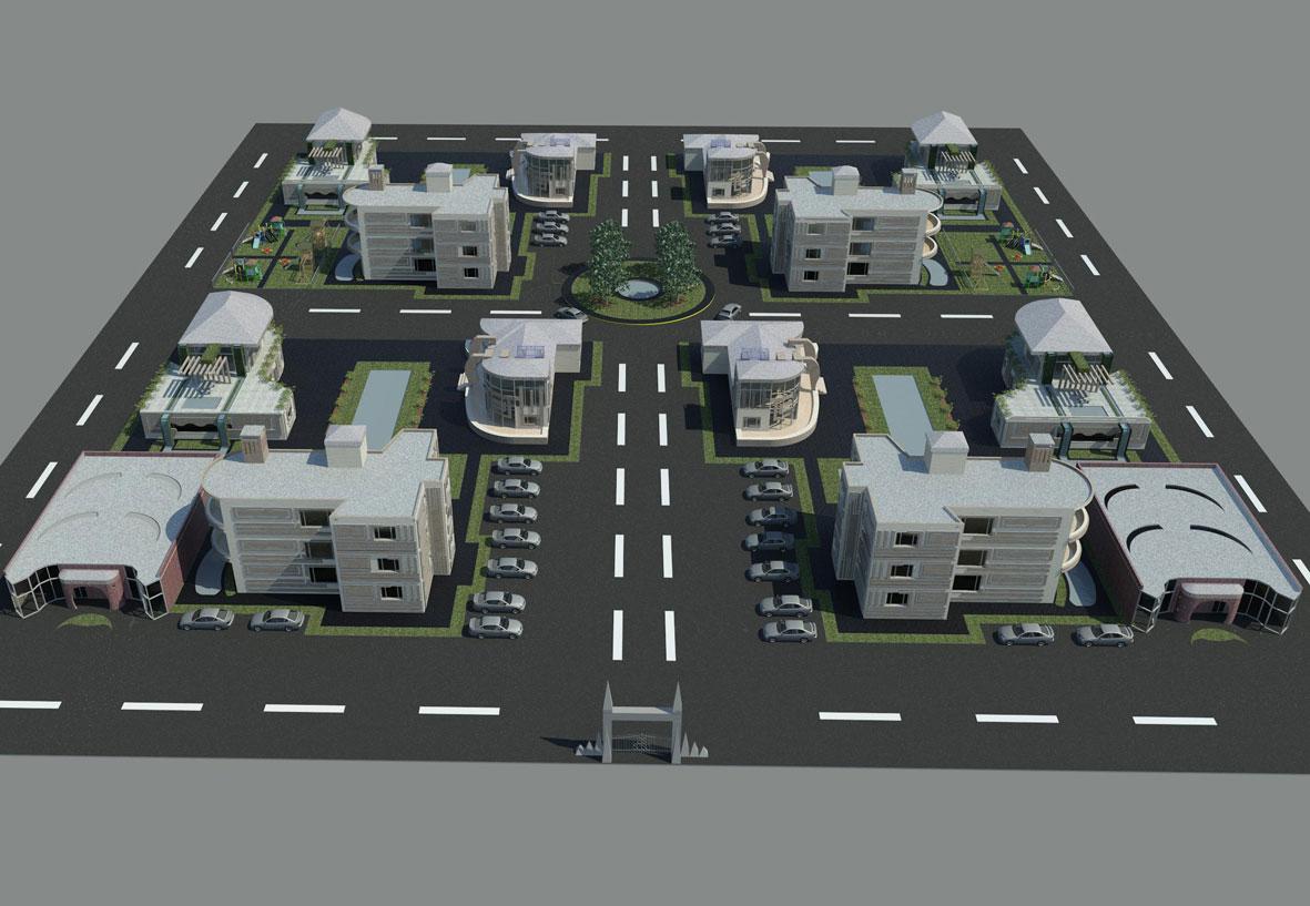 پروژه طرح نهایی خانه های کم ارتفاع