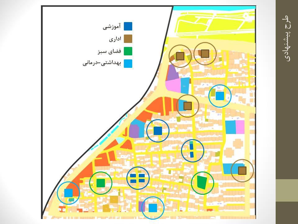 فضاهای شهری مکان یابی منطقه 5 اصفهان