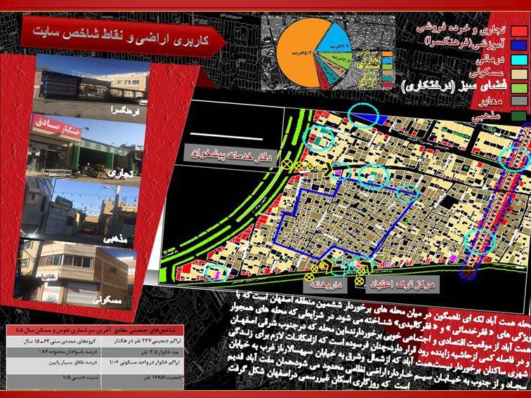 تحلیل و مکانیابی محله همت اباد اصفهان